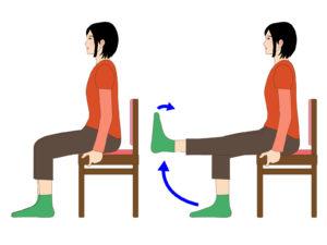 膝痛の予防運動は50代から!椅子に座りにながらセルフケア!